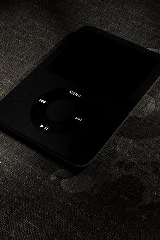 Black iPod iPhone Wallpaper
