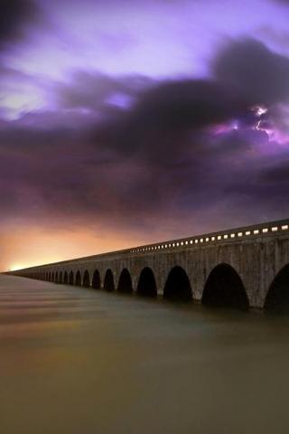 Long Bridge iPhone Wallpaper
