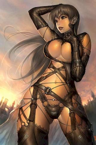 Sexy Warrior iPhone Wallpaper