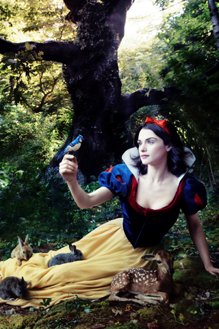 Rachel Weisz as Snow White iPhone Wallpaper
