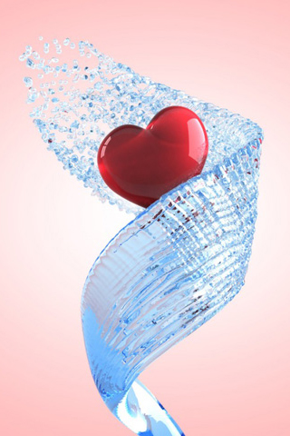 Splash of Love iPhone Wallpaper