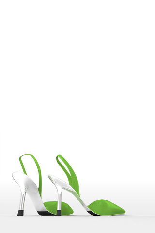 Green Stiletto iPhone Wallpaper