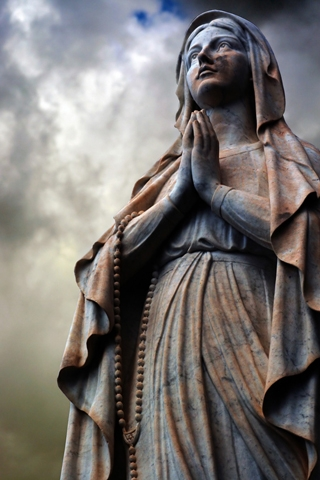 Religious Statue iPhone Wallpaper