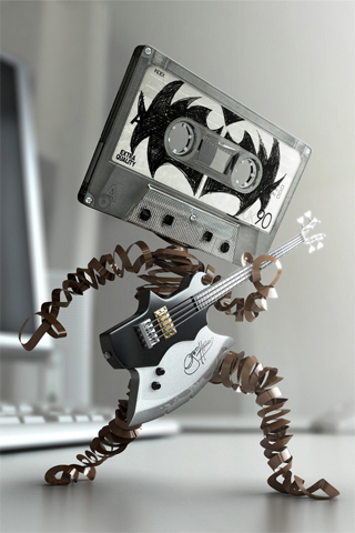 Kiss Cassette Tape iPhone Wallpaper