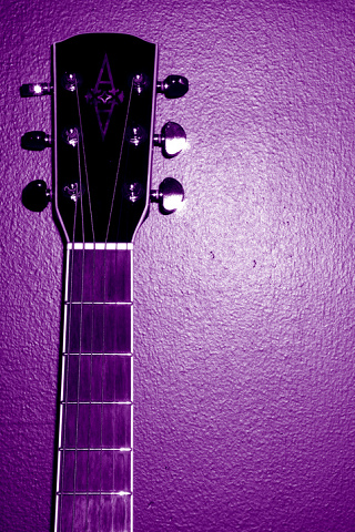 Purple Guitar iPhone Wallpaper