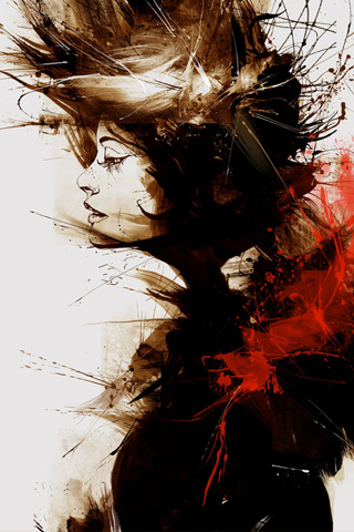 Girl Abstract iPhone Wallpaper