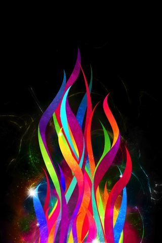 Abstract Flame iPhone Wallpaper