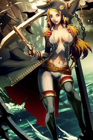 Pirate Ship Captain iPhone Wallpaper