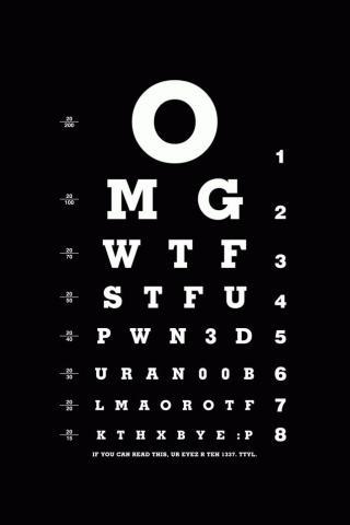 Eye Test iPhone Wallpaper