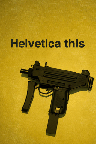 Helvetica this iPhone Wallpaper
