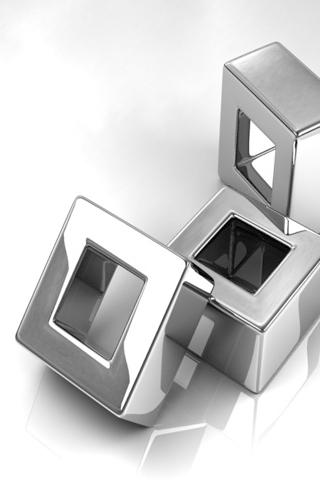 Titanium Blocks iPhone Wallpaper