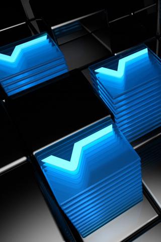 Vitrex Cubes iPhone Wallpaper