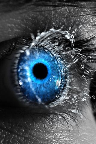 Eye Splash iPhone Wallpaper