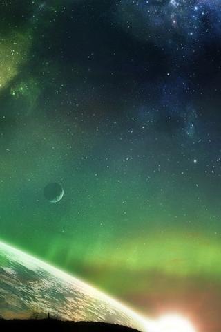 Space Lighting iPhone Wallpaper
