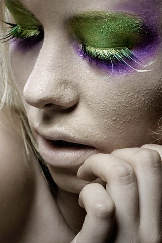 Wet Makeup iPhone Wallpaper