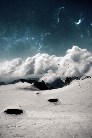 Terrestrial Landscape iPhone Wallpaper