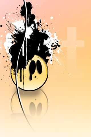 Ink Face iPhone Wallpaper