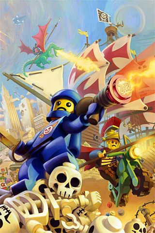 Lego Knights Kingdom iPhone Wallpaper
