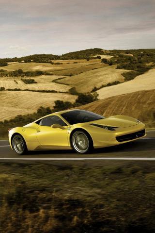 Ferrari 458 Italia iPhone Wallpaper