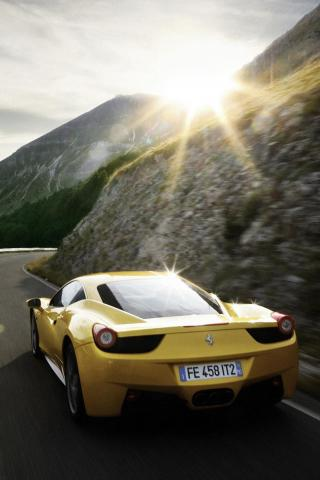 Ferrari 458 Italia Rear iPhone Wallpaper