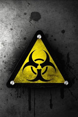 Biohazardous Material iPhone Wallpaper