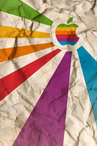 Crumpled Paper iPhone Wallpaper