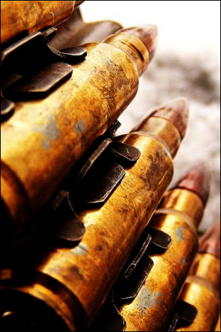 Weathered Ammunition iPhone Wallpaper