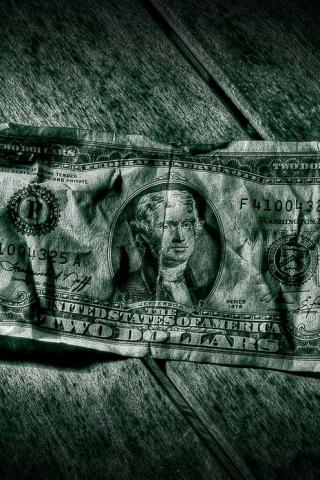 Two Dollar Bill iPhone Wallpaper