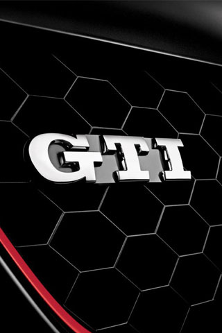 Volkswagen GTI Emblem iPhone Wallpaper