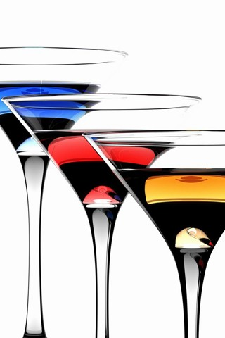 Assorted Martinis iPhone Wallpaper