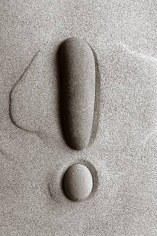Exclamation Stone - Chema Madoz iPhone Wallpaper