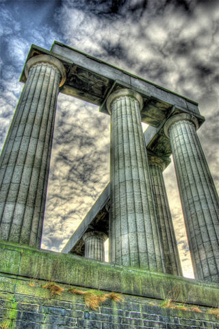 Columns HDR iPhone Wallpaper