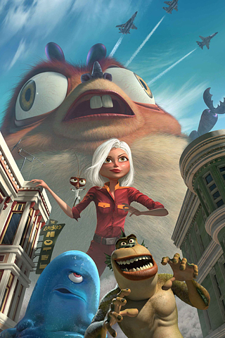 Monsters vs Aliens iPhone Wallpaper