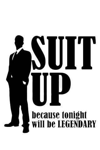 Suit Up IPhone Wallpaper