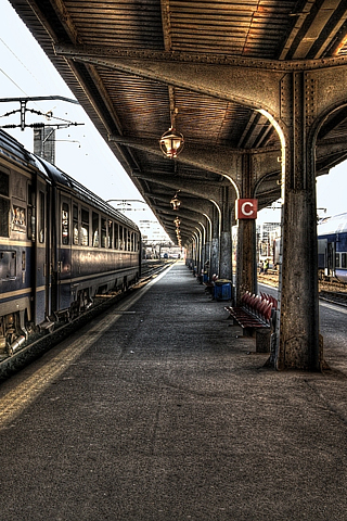 Train Station HDR iPhone Wallpaper