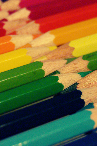 Pencil Crayons iPhone Wallpaper