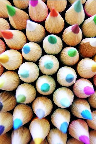 Pencil Crayons iPhone Wallpaper