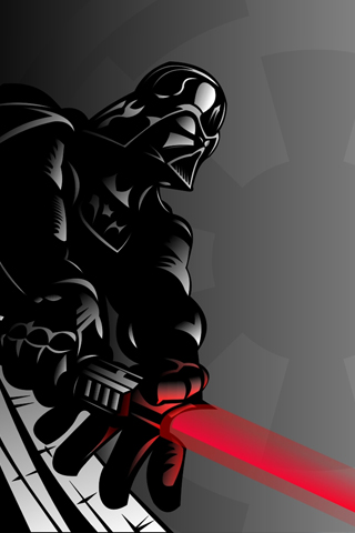 Darth Vader Vector iPhone Wallpaper