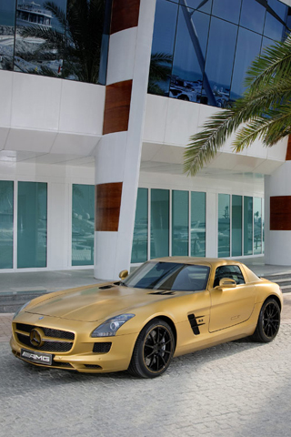 Mercedes SLS AMG iPhone Wallpaper