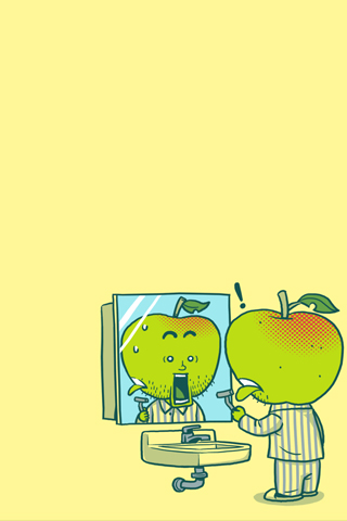 Apple Peel iPhone Wallpaper