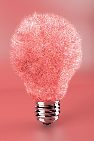 Pink Lightbulb iPhone Wallpaper