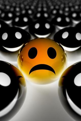 Sad Smiley iPhone Wallpaper