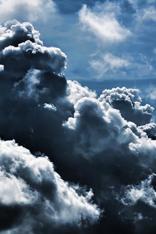 Dark Clouds iPhone Wallpaper