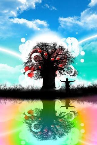 Tree of Love iPhone Wallpaper