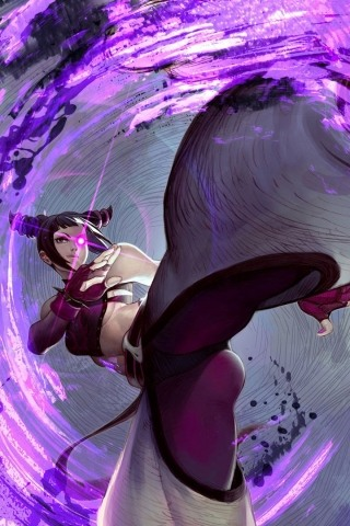 Street Fighter IV - Juri iPhone Wallpaper