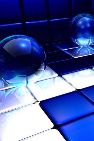 Blue Spheres iPhone Wallpaper