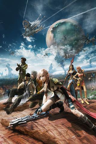 Final Fantasy XIII Cast iPhone Wallpaper