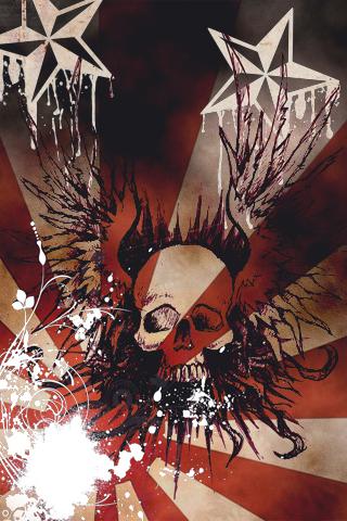 Winged Skull iPhone Wallpaper