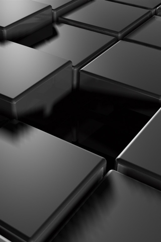 Black Tiles iPhone Wallpaper