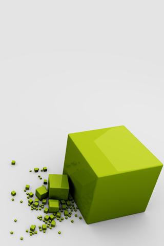 Green Cubes iPhone Wallpaper